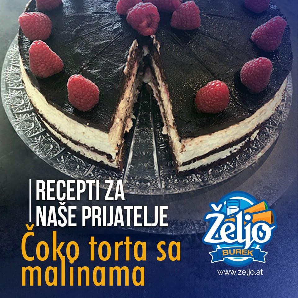 Schoko-himbeere torte